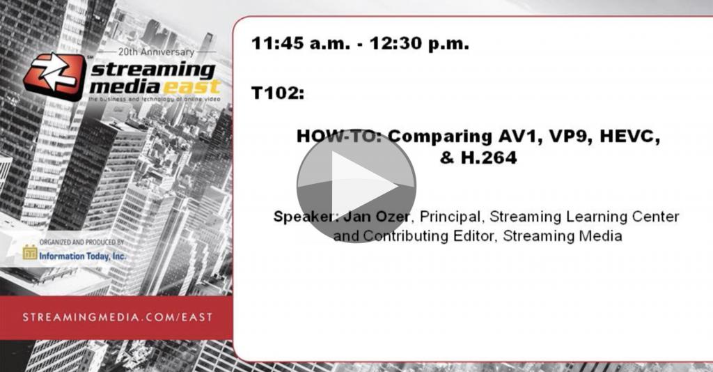 Video: Comparing AV1, VP9, HEVC, & H 264 | The Broadcast