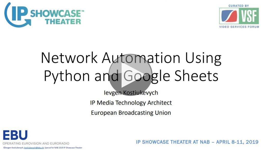 Video: Network Automation Using Python and Google Sheets